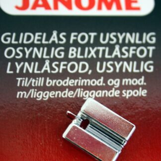 Blixtlåsfot Osynlig ,Grupp 2 & 3 Janome Symaskiner