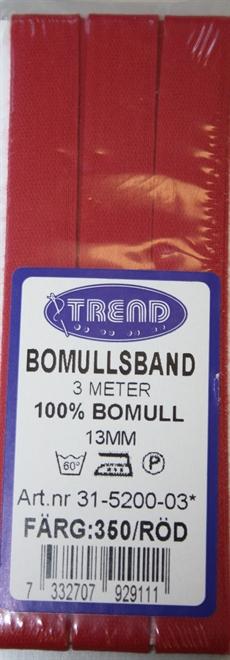Bomullsband Röd