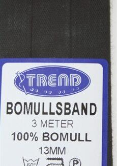 Bomullsband Svart