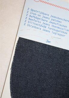 Jeanslaglapp mörkblå