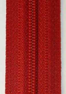 Blixtlås metervara Röd