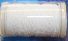 Gummitråd 0,5mm vit